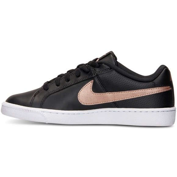 Nike Court Royale Black And Rose Gold